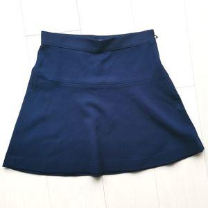 NWOT Gap Oxford navy blue circle skirt